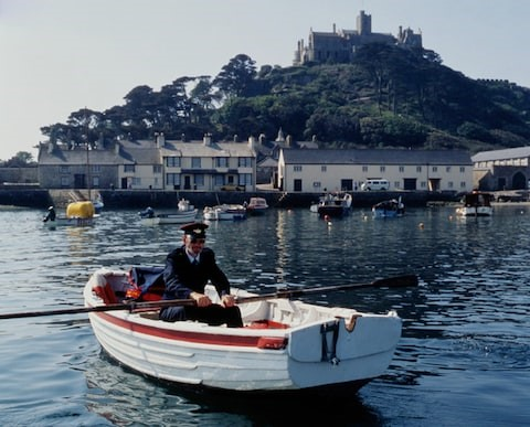 Royal Mail delivery to St Michael's Mount by boat