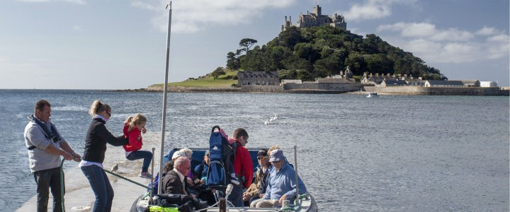 Taking the boat to St Michael's Mount